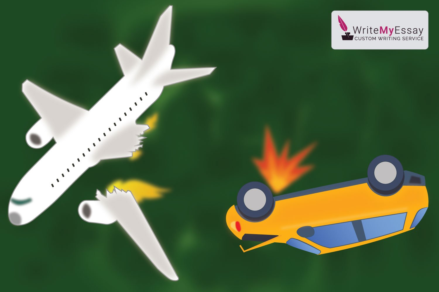 The risks of a car accident are much higher than an airplane crash essay sample